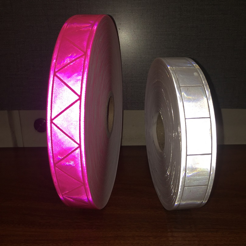 2.5cm*1m  Microprism Warning Safety Reflective PVC Tapes Marine Checkered Reflective PVC Strap Tape For Clothes
