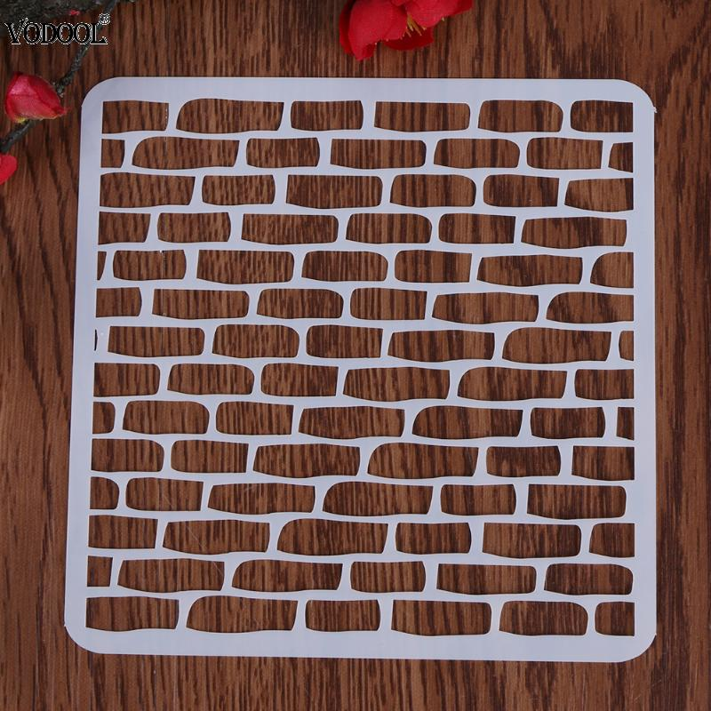 VODOOL Fine Craft Grids Layering Plastic Stencils Scrapbooking Stamp Painting Stamps Album Decorative Embossing Paper cutiepie kinds of 0 9 numbers transparent clear stamps for scrapbooking diy silicone seals photo album embossing folder stencils