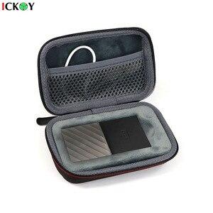 Жесткий противоударный чехол EVA для моего паспорта SSD WD 512 ГБ/256 ГБ/ТБ/2 ТБ, Портативная сумка для хранения USB, внешний твердотельный накопитель