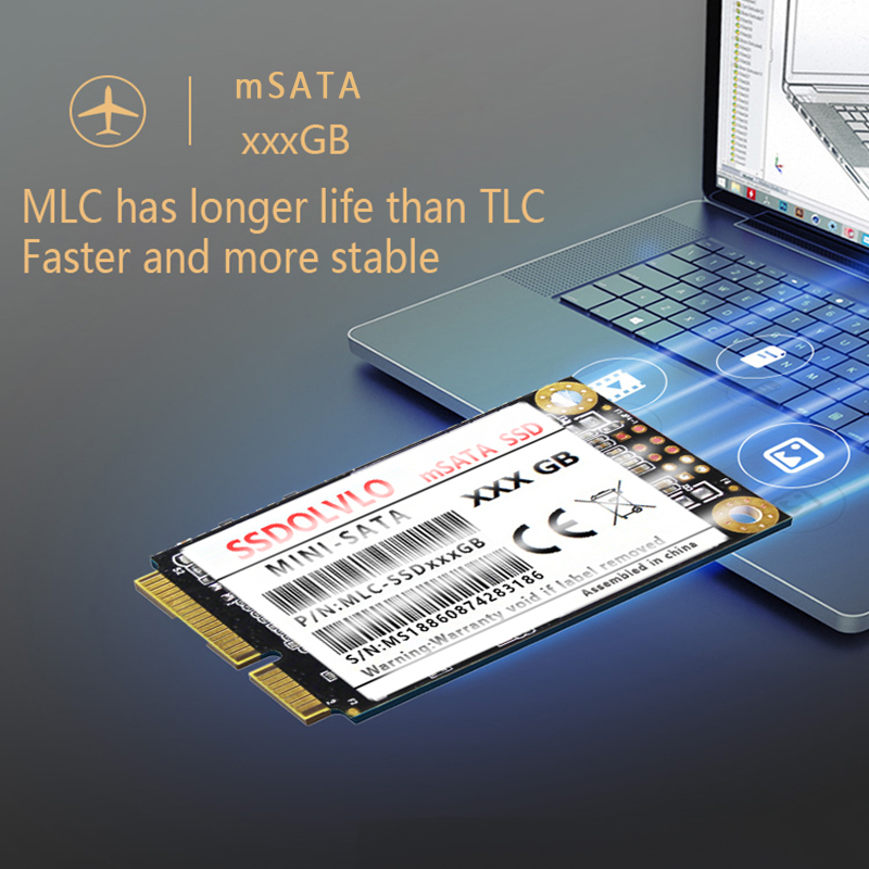 mSATA SSD SATA3 III 6GB/S SATA II 32GB 64GB 128GB 256GB 512GB 1TB HD SSD Solid State Drive Disk All Signal PC