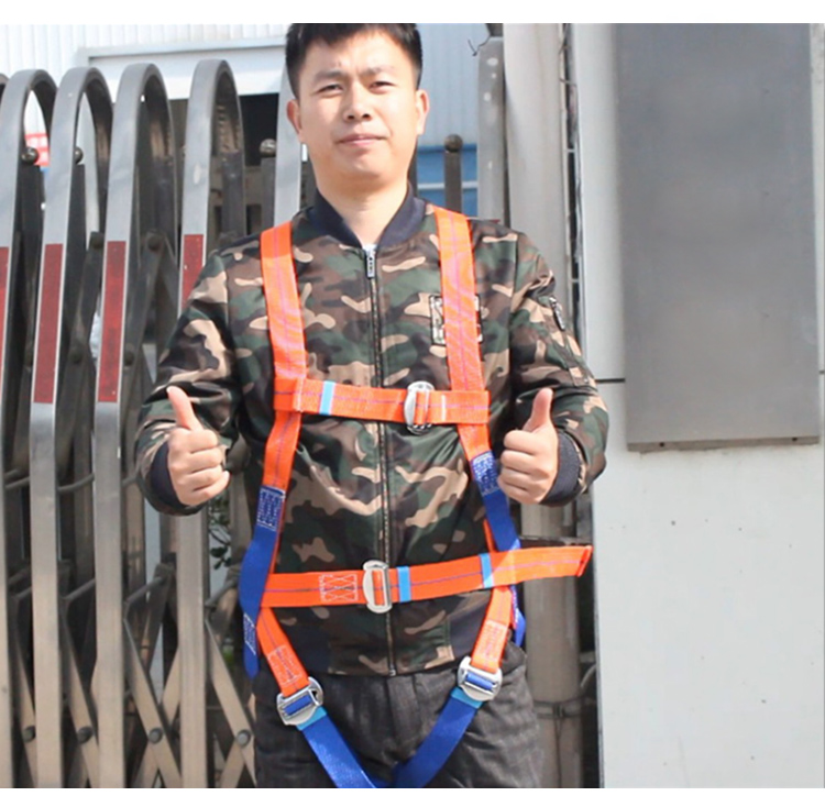 Safety Harness Five-point Type Systemic Safety belt with Double hook High-altitude operations Fall prevention Protect equipment (12)