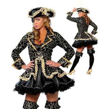 新セクシーな女性のクラシック海賊コスチュームデラックス海賊ファンシードレスアダルトコスプレハロウィーン衣装 W2963 - DISCOUNT ITEM  11% OFF ノベルティ & 特殊用途