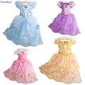 Minnie Crianças Baby Girl Snow Queen Princesa Sofia Vestido de Roupas Crianças Traje Rapunzel Cinderela Vestidos De Noiva Para Meninas
