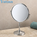 "100% New high quality 8"" dual Makeup mirrors 1:1 and 1:3 magnifier Copper Cosmetic Bathroom Double Faced Bath Mirror,YT-9103"