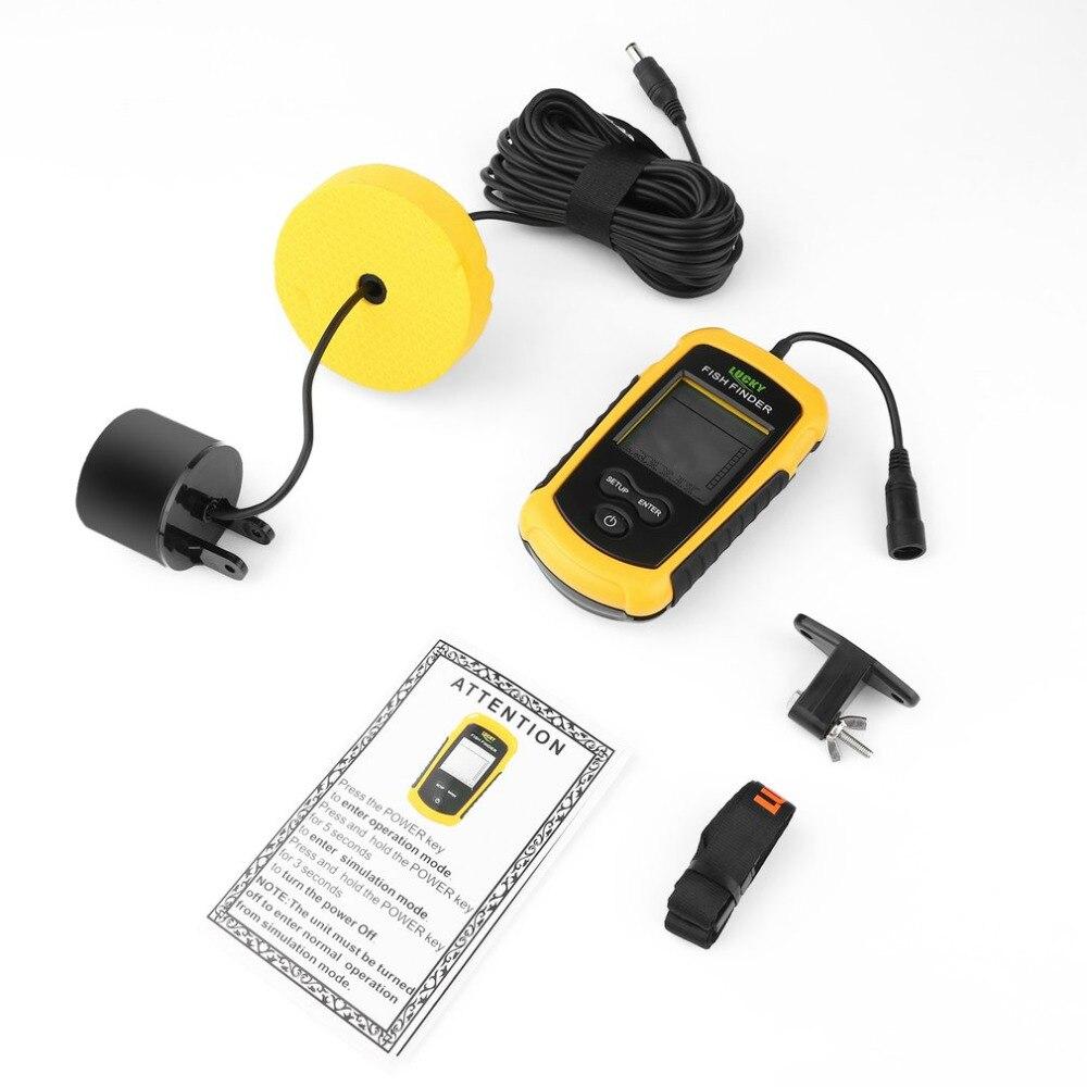 Portable 0.7-100 M Sonar alarme détecteur de poisson écho sondeur capteur de profondeur détecteur avec RU EN manuel de l'utilisateur livraison directe