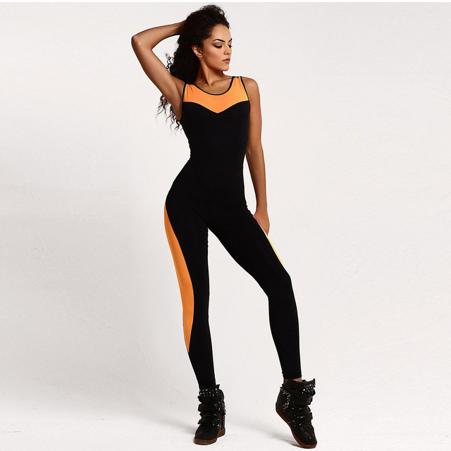 7a456f2742 US $9.49 19% OFF|Aliexpress.com : Buy Women Summer Backless Bodysuit Tight  Yoga Gym Running Sport Fitness Set Jogging Sportswear Pants Jumpsuit ...