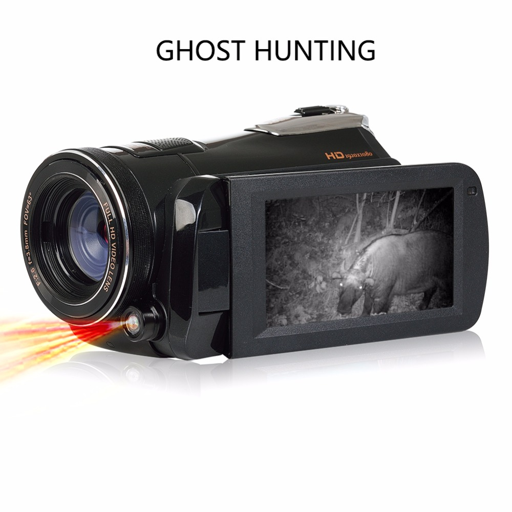 Marvie LED Fill Lights Portable 24.0 MP 3.0 Screen DV Camera FHD Camcorder Digital Video Recorder 16X Zoom IRNight Vision Cam 6