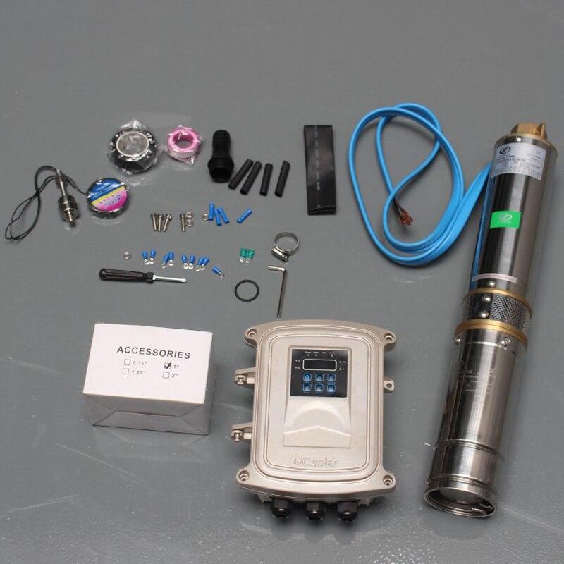 6T 56m sortie de cuivre solaire alimenté étang pompe MPPT contrôleur pompage solaire kit aimant permanent synchrone moteur solaire dc pompe