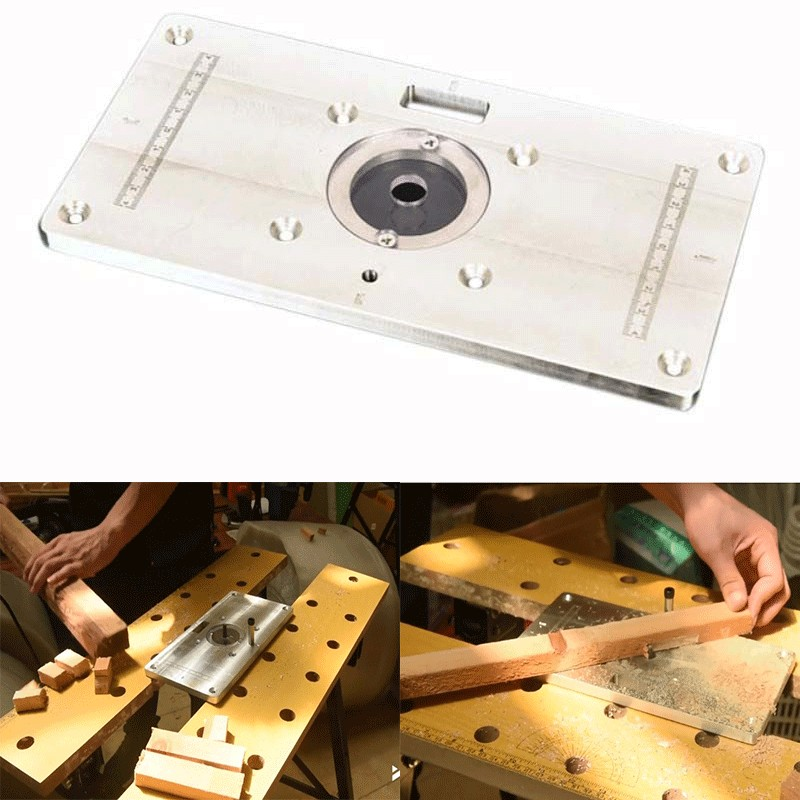 Multifunctional Aluminum Router Table Plate Trimming Engraving Machine Flip Board For Woodworking Benches