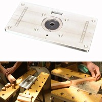Multifunktionale Aluminium Router Tisch Platte Trimmen Gravur maschine Flip Board Für Holzbearbeitung Bänke