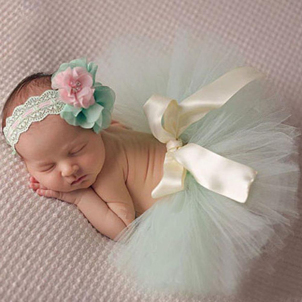 Adereços Fotografia de recém nascidos Do Bebê Meninas Princesa Saia ... 4e7c54990c37