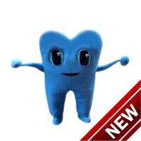 2018 новый синий зуб Маскоты костюм персонажа из мультфильма Косплэй пользовательских продуктов настроены Бесплатная доставка