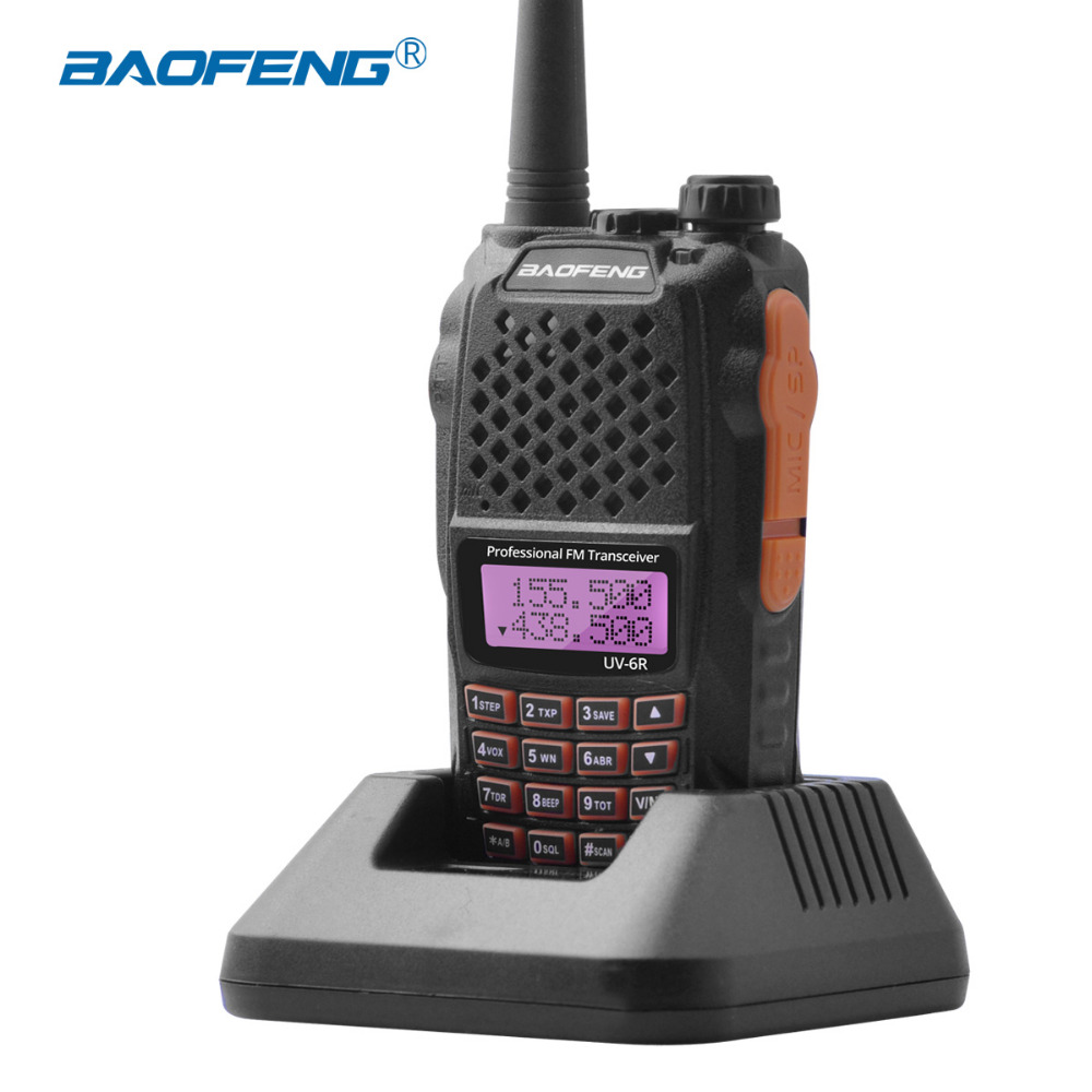 Baofeng UV-6R Radio Station uv6r Walkie-talkie UHF VHF dual band uv 6r walky tal 1
