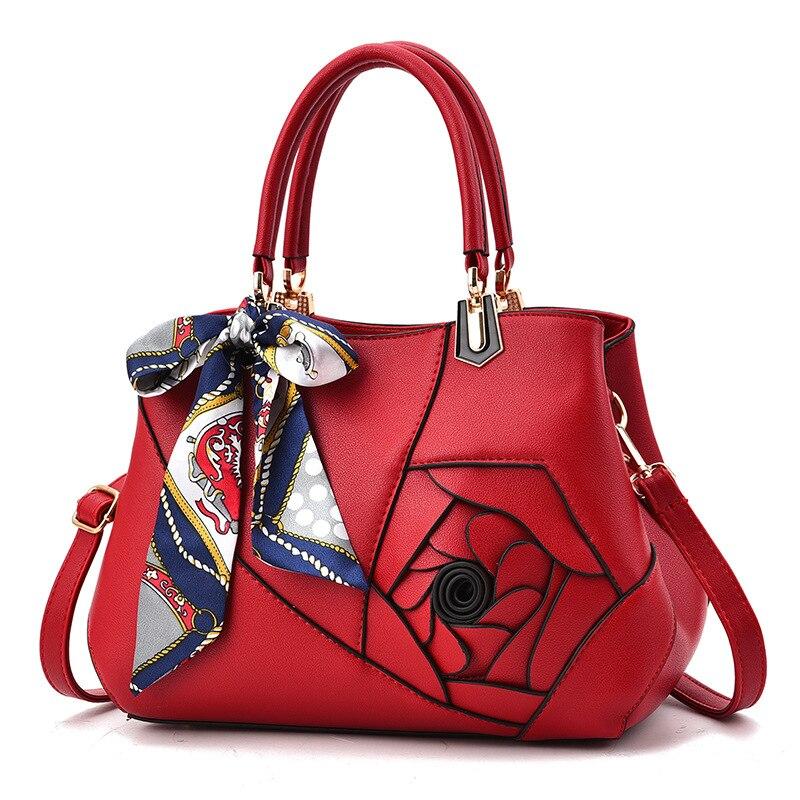MONNET CAUTHY 2019 Female Totes Classic Flower Fashion Elegant Ladies Handbags Solid Color Khaki Grey Pink Black Crossbody Bags