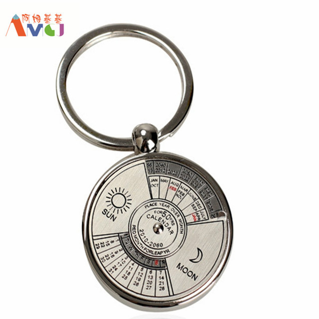 Year Calendar Keyring : Cheap promotion unique fobs perpetual calendar