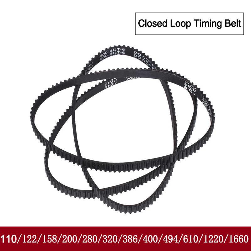 GT2 閉ループタイミングベルトゴム 110/122/158/200/400/610/1220 ミリメートル 2GT ベルト幅 6 ミリメートル適切 GT2 用 3d プリンタ部品