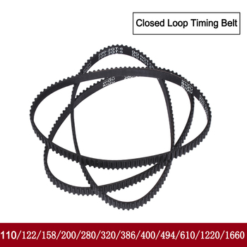 GT2 Closed Loop Timing Belt Rubber 110/122/158/200/400/610/1220mm 2GT BELT width 6mm suitably pulley for 3d printer parts - discount item  5% OFF Office Electronics