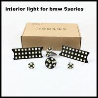 6pcs Set Error Free White Car LED Decorative Reading Light For BMW 5 Series LED Dome