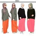 Musulmán nuevas mujeres del nuevo algodón modal vestido largo flojo abaya
