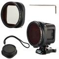 52mm cpl filtro de la lente + tapa de la lente + adaptador para gopro hero4 session polarizador lf715