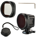 52mm filtro cpl + lens cap + lens adapter para gopro hero4 session polarizador lf715