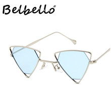 Belbello Adult Punk Sunglasses Men Acrylic Women Color Lens Fashion Retro Trend Metal Tourism