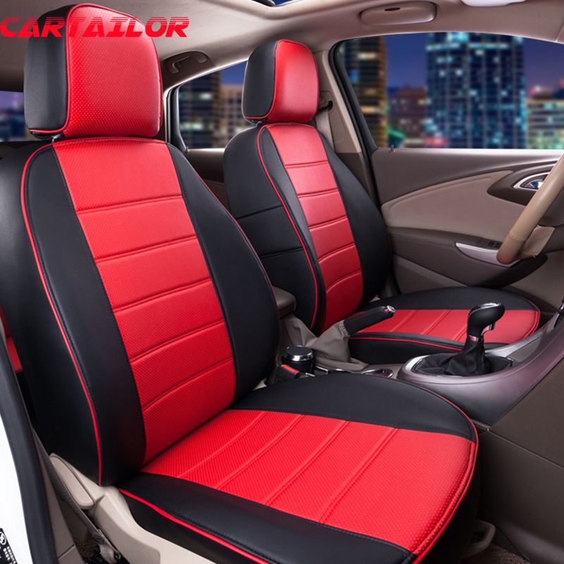 Cartailor New Cover Seat Fit For Subaru Outback 2015 2011 Seat Covers Accessories Set Pu Leather