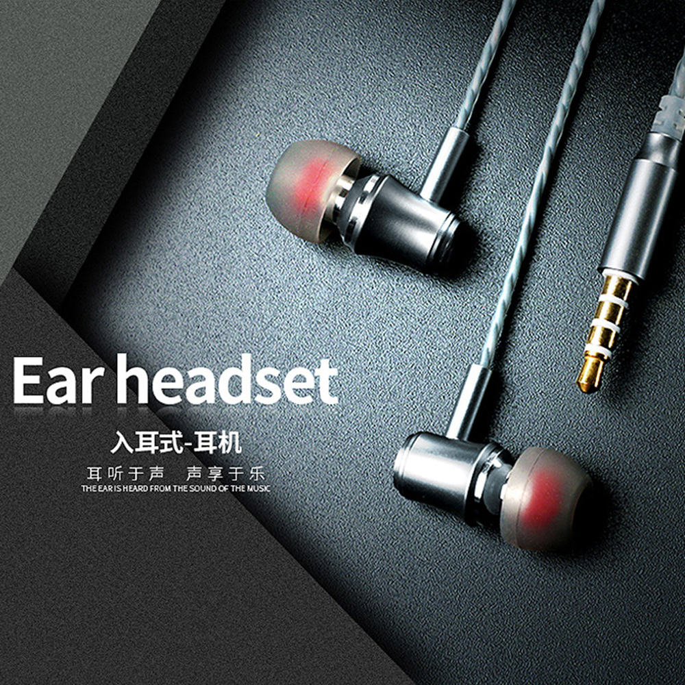 qijiagu Ear mobile phone wired control earphone with a headset cell phone computer K songs heavy bass earplugs image