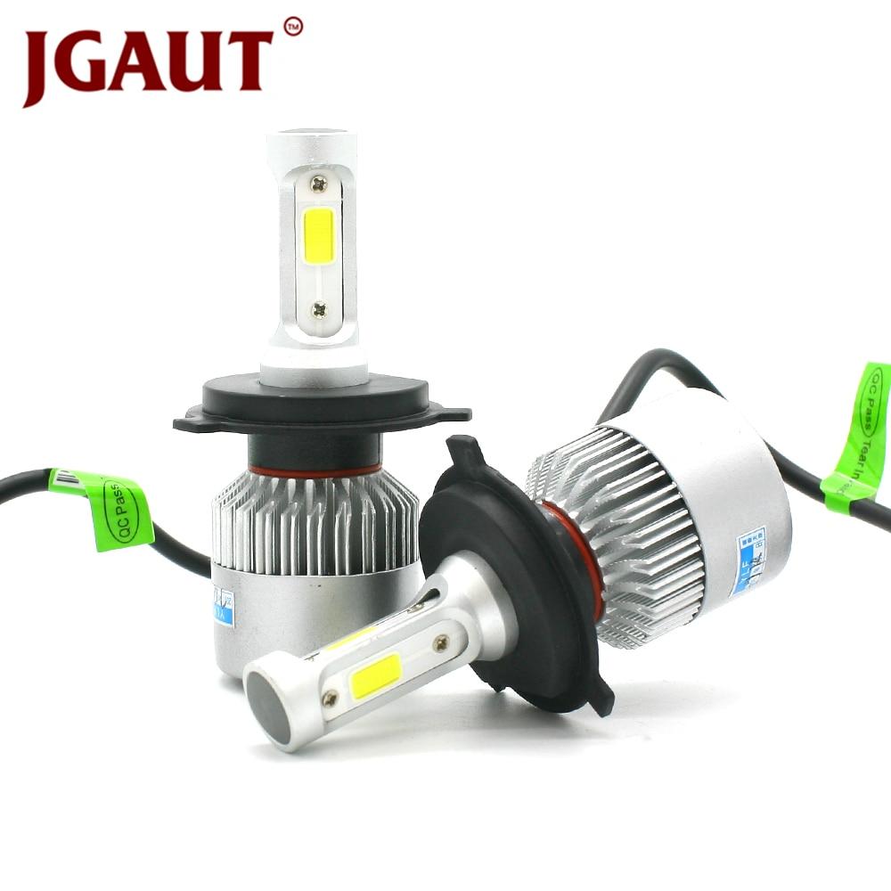 JGAUT 2 stücke S2 H7 H4 Led-lampe Auto Scheinwerfer H11 H1 H13 H3 H27 9005 880 881 9006 9007 hallo-Lo Strahl 72 watt 8000LM Auto Scheinwerfer Licht