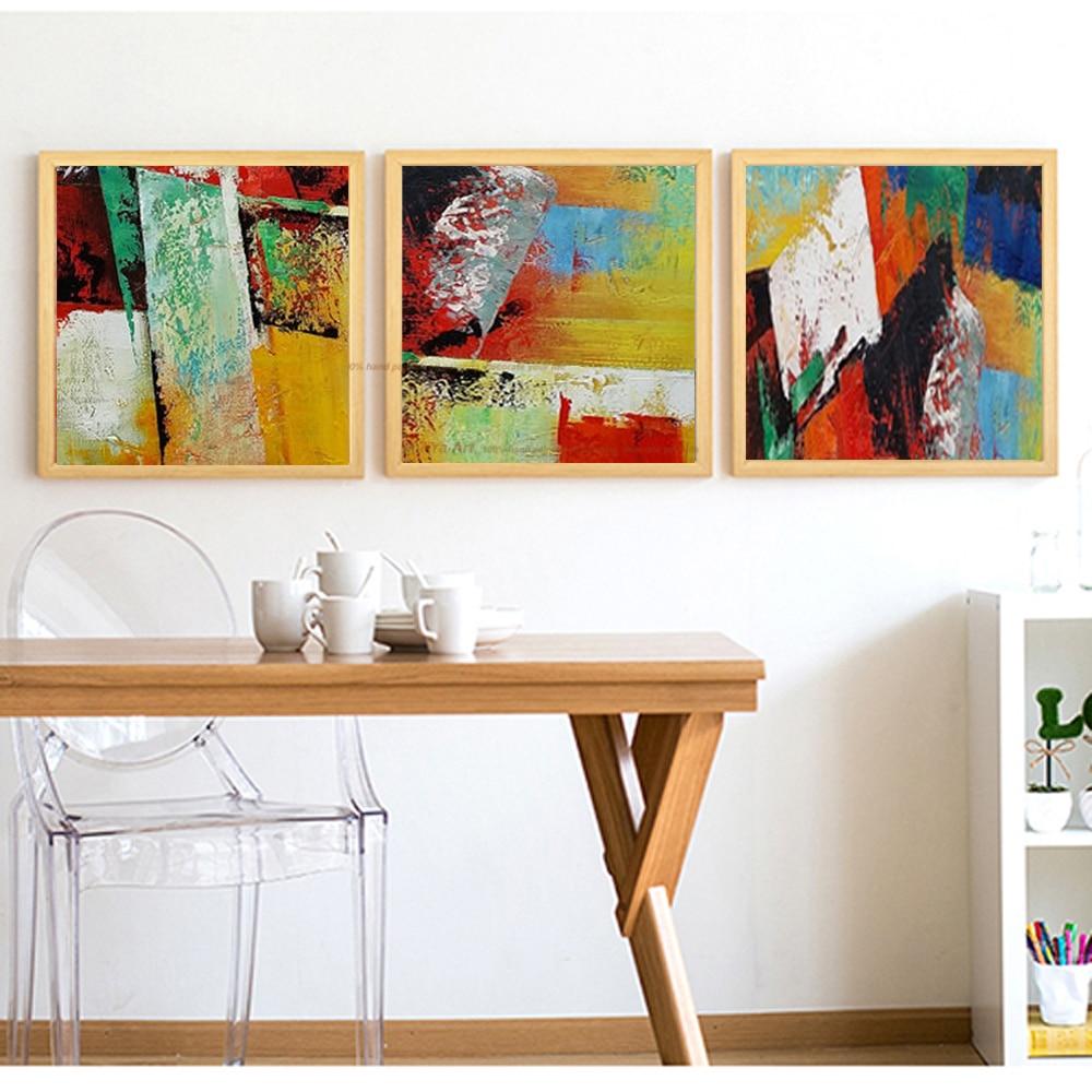 100% pintado a mano pinturas de acrílico abstracto moderno barato ...
