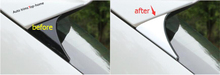 цена на Yimaautotrims Exterior Refit For Nissan Qashqai J11 2014 - 2020 Chrome Rear Windshield Window Spoiler Wing Triangle Cover Trim