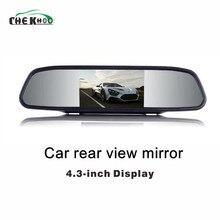 Автомобильный монитор 4,3 «экран для заднего вида автомобиля камера заднего вида TFT lcd Зеркало заднего вида дисплей 4,3 дюймов Цвет HD зеркало заднего вида