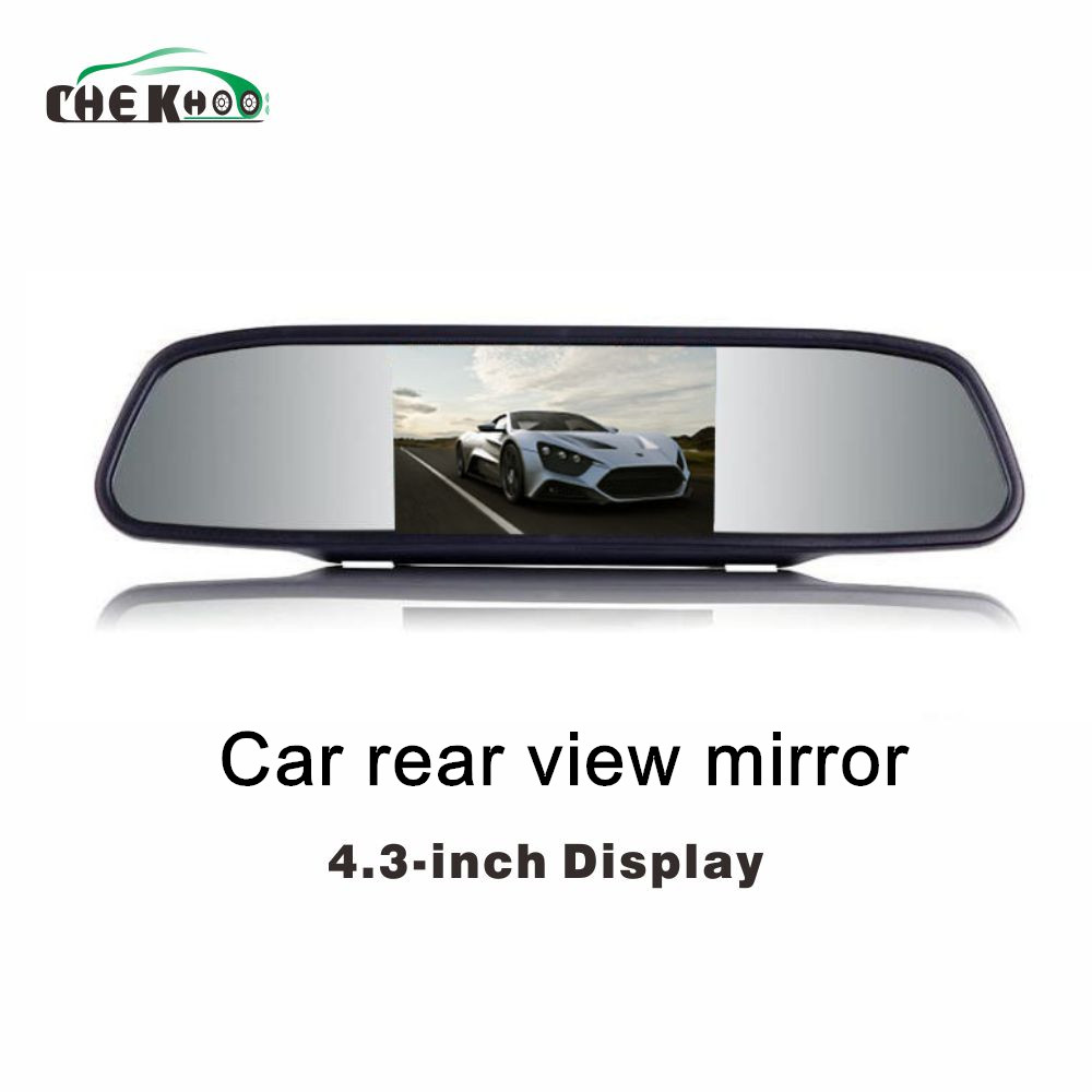 Car Monitor 4.3 Screen For Car Rear View Reverse Camera TFT LCD Rear view Mirror Display 4.3 Inch  Color HD  Backview MirrorCar Monitor 4.3 Screen For Car Rear View Reverse Camera TFT LCD Rear view Mirror Display 4.3 Inch  Color HD  Backview Mirror
