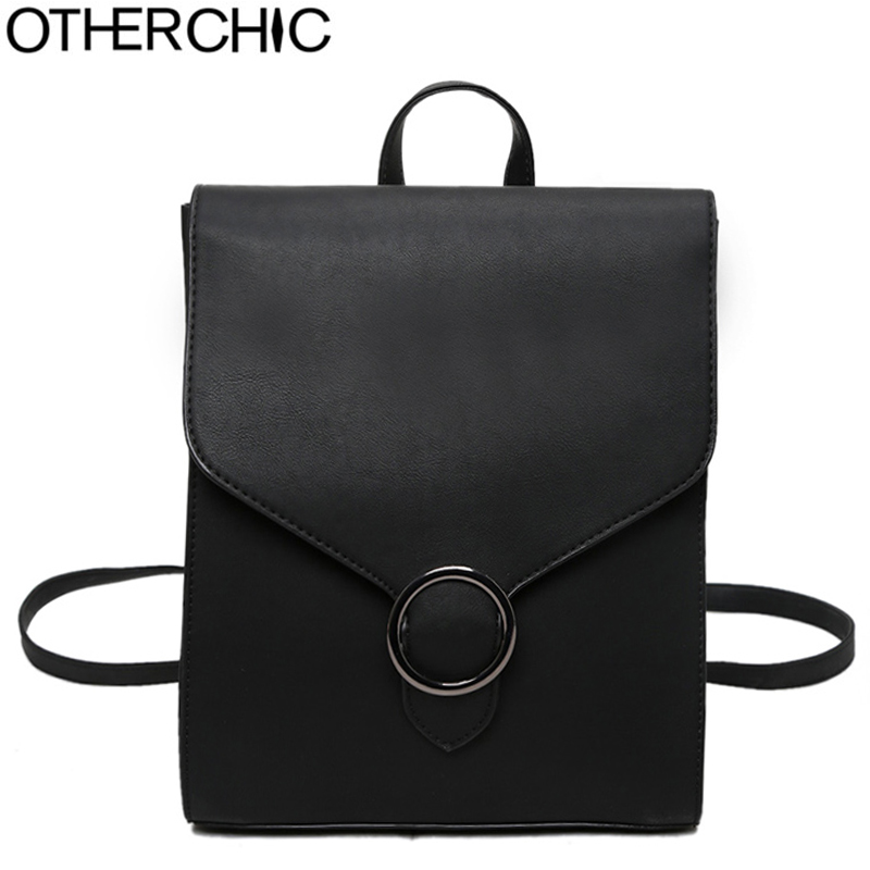 OTHERCHIC Brand Women Backpack High Quality PU Leather School Bags Fashion Women Backbag Girls Haversack Sac