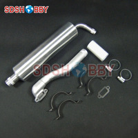 New Designed Canister Muffler for DLE30 EME35 DLA32 GT26R GF26I Engines /for 23 35cc Gas Plane