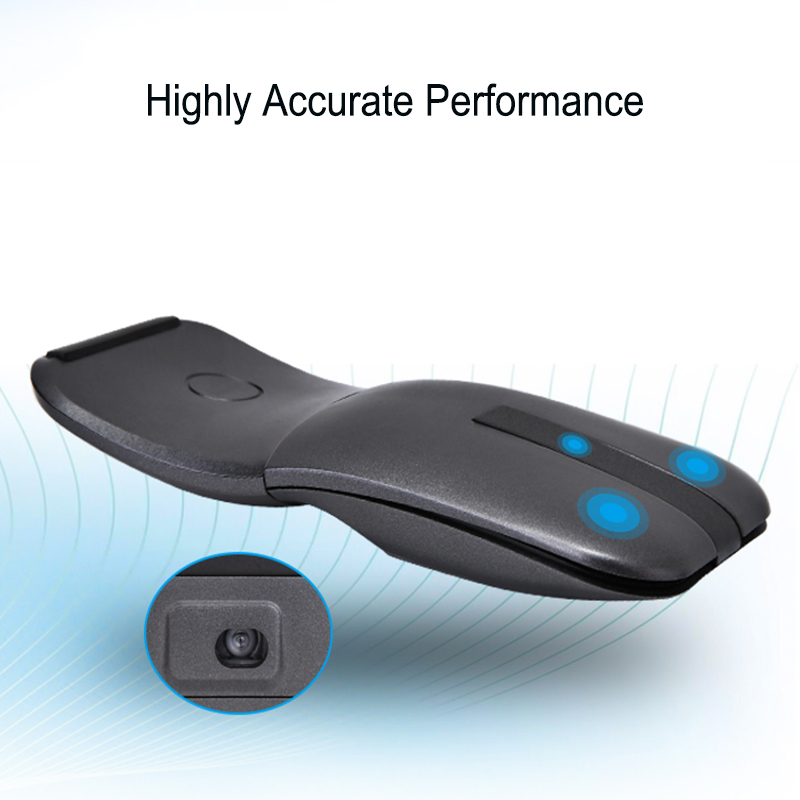 CHYI Wireless Mouse Rotating Arc Touch Mice 2.4Ghz Optical Rotatable Computer Slim Mause for Microsoft Surface Laptop Notebook