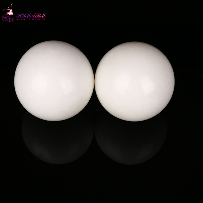HIMABM Natural 50mm white jade hand massage Exercise Meditation Stress Relief Handball Fitness Ball Health healing reiki balls