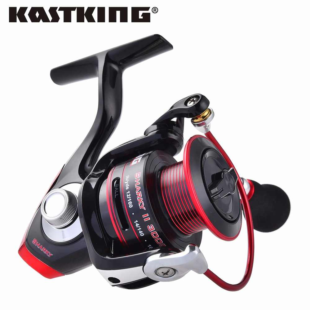 KastKing Sharky II Series Water Resistant Spinning Reel for River Fishing 11BBs Max Drag 22KG Winter Ice Fishing Reel