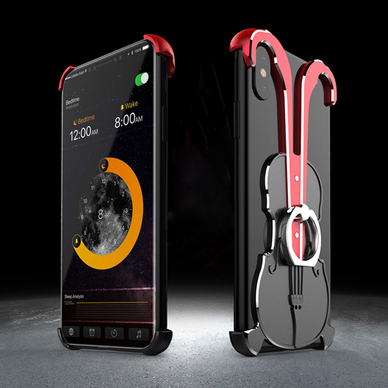 2018 New Metal Ring Armor Case For IPhone XR X XS Max Phone Case Full Cover For IPhone XR XS XS