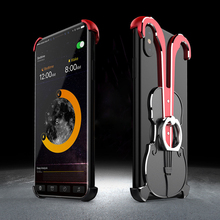 2018 New Metal Ring Armor Case For IPhone XR X XS Max Phone Full Cover Holder With Kickstand