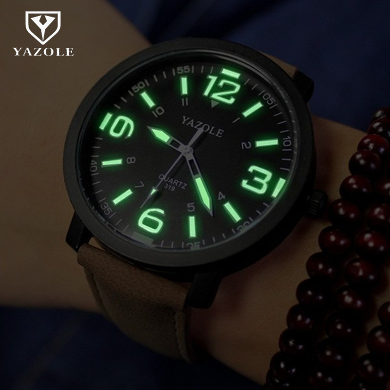 2017 Luminous Watch Men YAZOLE Brand Luxury Fashion Sports Watches Male Clock Quartz Watch Hour Montre Homme relogio masculino gt watch men watch italy flag f1 sport watches silicone strap quartz watch male hour clock montre homme relogio masculino