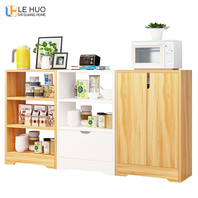 Us 79 19 12 Off Sideboards Wooden Dining Room Cabinet Kitchenware Organizer Storage Cabinets Fashion Kitchen Shelf Home Furniture In From