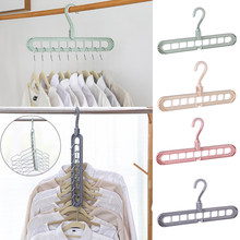 Multi-port Support Circle Clothes Hanger Clothes Drying Racks Multifunction Plastic Scarf Clothes Hanger Hangers Storage Rack(China)