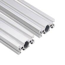 4pcs/lot 2040 Aluminum Profile European Standard Anodized  Linear Rail Aluminum Profile 2040 Extrusion 2040 CNC 3D Printer Parts