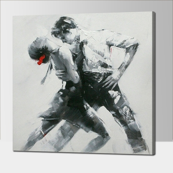 No Frame Dropshipping Home Decoration Man and Woman Dancer Frameless Wall Art Picture By 100% Handmade Oil Painting On Canvas