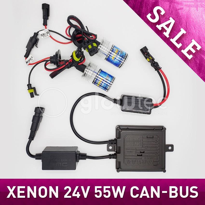 24V 55W CANBUS HID XENON KIT HEADLIGHT HID KIT SLIM BALLAST XENON Bulbs H1 H3 H7
