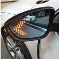 Абсолютно новые с подогревом синие широкоугольные боковые зеркальные очки для Volkswagen CC