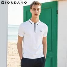 acae88cd1db Giordano Fast Dry Pique Polo Shirt Zip Placket Short Sleeve