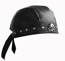 Skórzane Bandana Biker Doo czy wytycznych w sprawie pomocy regionalnej Headwrap z ćwiekami Skull Cap Capsmith Du wytycznych w sprawie pomocy regionalnej cheap crazy hunter Faux leather Dla dorosłych Nowość Sun kapelusze PU leather black one size