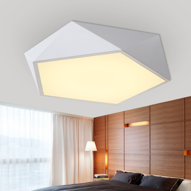 Modern White Black Acrylic LED Ceiling Lamp Drum Flush Mount Fixture Light Indoor Lighting For Bedroom Living Room Dinning Room
